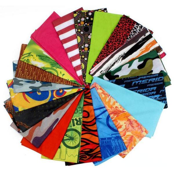 Turbante mágico elástico al aire libre al por mayor de la Multi-función al por mayor El algodón nuevo poliéster completo del poliéster Headscarf Square Towel