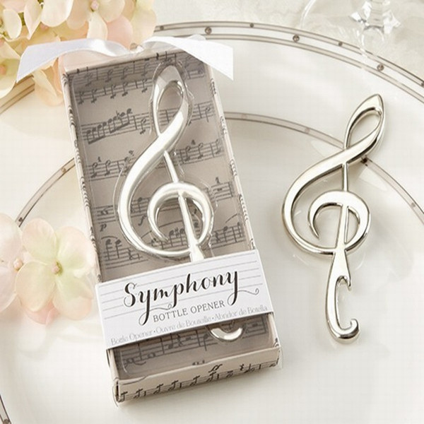 "top popular Romantic Music Note Bottle Opener ""Symphony"" Desing Beer Opener Casamento Favor Wedding Favors Gift Party Souvenir 100pcs lot 2019"