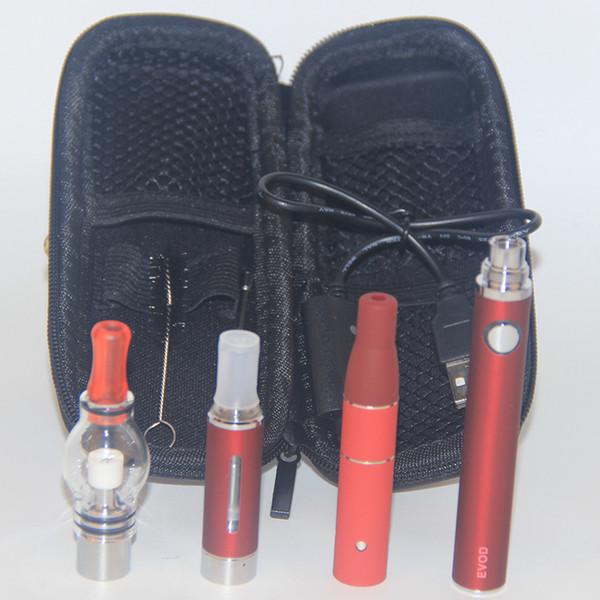 Wholesale Vape AGO G5 Tank Dry Herbal Vaporizer MT3 eGo Clearomizer Wax Glass Globe Atomizer 3 in 1 E Cigarette