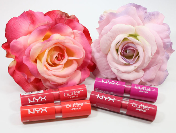 New 12 Colors women NYX Butter lipstick factory price Long Lasting Lip Gloss Professional Makeup NYX Butter Liptstick 12pcs/box