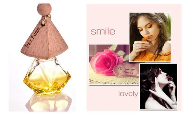 MINI 6ml 500pcs/lot Colorful Glass Essential Oil Bottle car hang decoration Pendant Fimo beauty Perfume Vials Wedding Gift JF-106