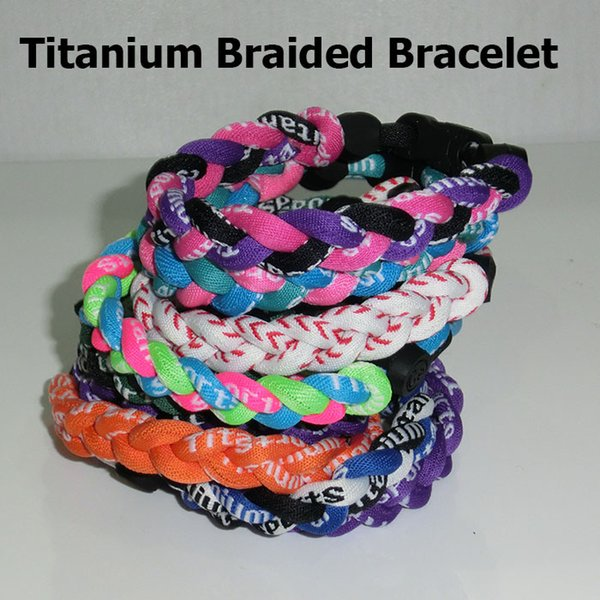 2017 Tornado 3 braided Titanium Braided Sports Bracelet size s m l xl
