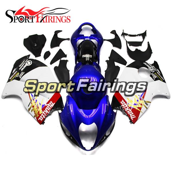 Carenados para Suzuki GSXR1300 GSX-R1300 Hayabusa Año 97 98 99 00 01 02 03 04 05 06 07 Juego de careta para motocicleta ABS Carrocería Makita Blue White