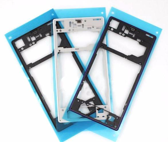 DHL Shipping 100pcs/lot New Replacement for Sony Xperia Z1 L39h C6903 Black White middle frame middle Rear housing Plate spare parts