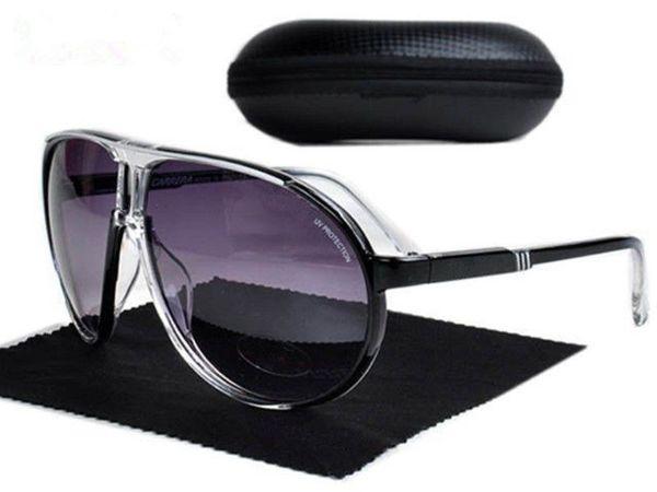 Nuevos hombres de la manera al aire libre de las gafas de sol del deporte de las mujeres gafas unisex retros Protección UV del diseñador del gradiente de la marca de lujo SunGlasses con la caja del caso