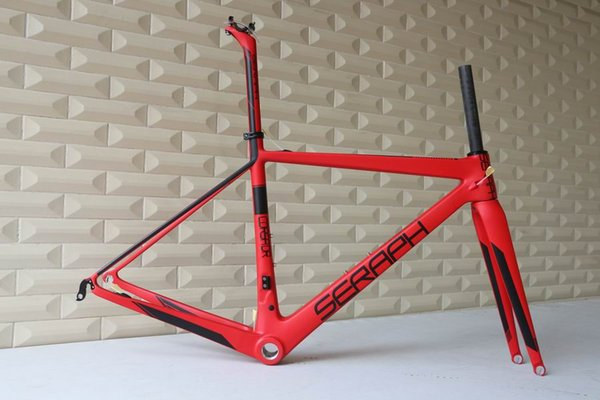 Marca SERAPH, cuadro de bicicleta de carretera de fibra de carbono súper ligero, cuadro de carbono chino T1000 cuadro de carbono FM686
