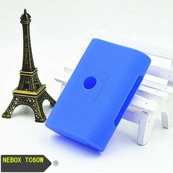 Vape Silikon Kılıf Renkli Koruyucu Kapak Cilt Ecig Kauçuk Kol Silikon Kılıf Çanta Için Kanger Nebox 60 W Sıcaklık Kontrolü Mod DHL Kargo