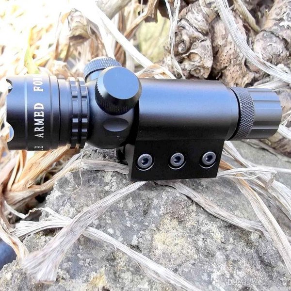 Rouge / Vert Laser Tactique Vue Scope Airsoft Fusil Portée Camping Chasse Riflescope