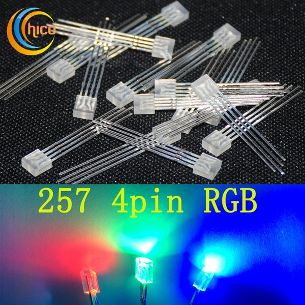 257 led diode rgb led light Common Cathode common anode LED square Light Beads water clear 1000Pcs/bag