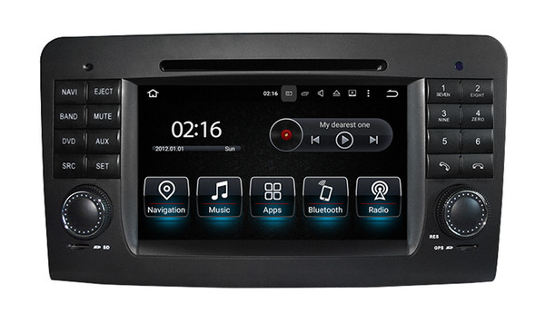 2 Din 7 Inch Android 9.0 PX5 8-CORE Car DVD Player For Mercedes/Benz/GL ML CLASS W164 ML350 ML500 X164 GL320 Canbus Wifi GPS BT Radio