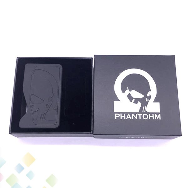 Vaporizer Phantohm Box Mod Bottom Feeding Resin material with SS connector Fit 18650 Battery E Cig DHL Free