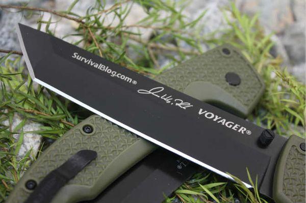 Colección Cuchillo 2 Estilos Cuchillo de Acero Frío 29UXTGH VOYAGER XL CTS XHP Cuchillo Tanto Voyager Serie Edición Personalizada Regalo F698E
