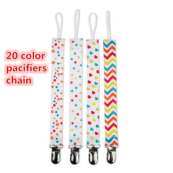 New Chupeta Baby Pacifier Clips Pacifiers chain colorful Baby Nipple Chain anti Dropping Chain Pacifier Nipple belt kid346