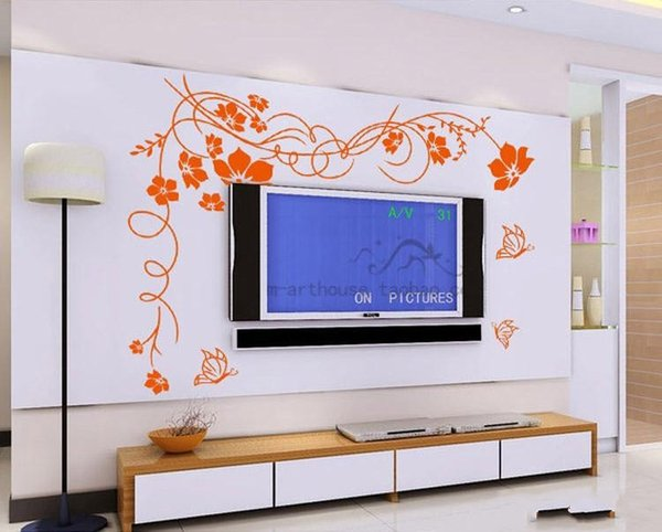 Hot Selling Beautiful Flower Wall Paper Decal Art Stickers for Home Decoration Living Room Bedroom Sofa TV Background Wallpaper