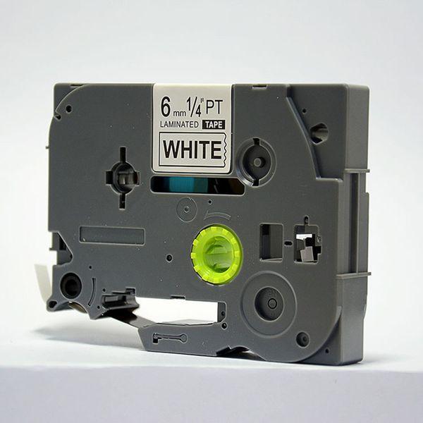 Brother tze tape 6mm nero su bianco tz-211 tze-211 tz211 tze211 per brother p touch printer