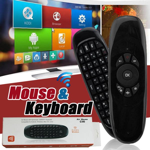 Mini Keyboard C120 T10 Drahtlose Fernbedienung Game Controller 6 Gyroskop 2,4 GHz Air Maus Für MXQ Pro M8S Mini MX TV Box Mit Paket