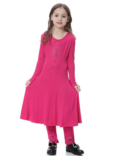2019 New Arrival Muslim Girl Long Sleeved Kaftan Dress Plus Size Girl Robe  S 3XL Girls Dress From Thefashionstore, $18.58 | DHgate.Com