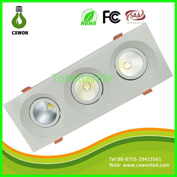 Le plafonnier lumineux superbe de LED 7W 14W 21W COB LED de plafond a enfoncé la lumière chaud frais frais de plafond blanc de plafond AC85-265V CE ROHS UL