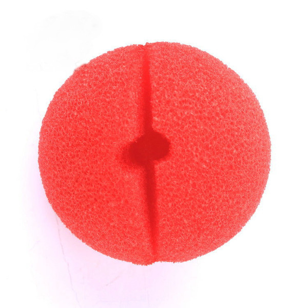 DHL Free Shipping Red Foam Circus Clown Nose Party Sponge Ball Red Clown Magic Nose for Halloween Masquerade Ball Sponge Comic Party
