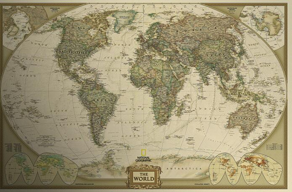 World Map Retro Wallpaper. New English World Map Wallpaper Vintage 69 5 46cm Retro Matte Kraft Paper  Antique Poster Wall
