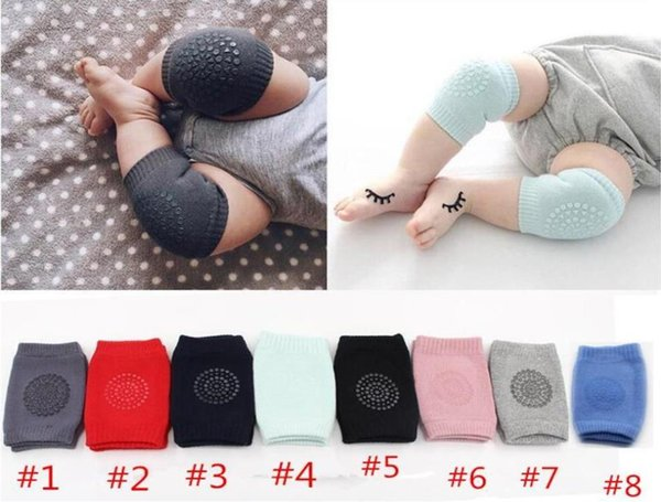 top popular Big promotion Baby Knee Protector Anti Slip Knee Pads Cotton Baby Socks For Newborns Baby Safety Crawling Elbow Cushion Leg Warmers 2000 lot 2019