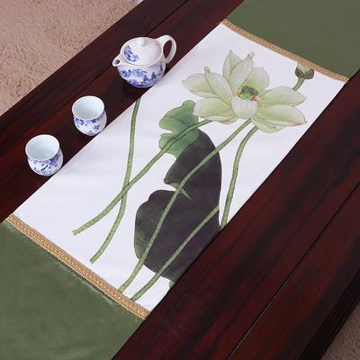 Verde con Lotus 230 x 33 cm