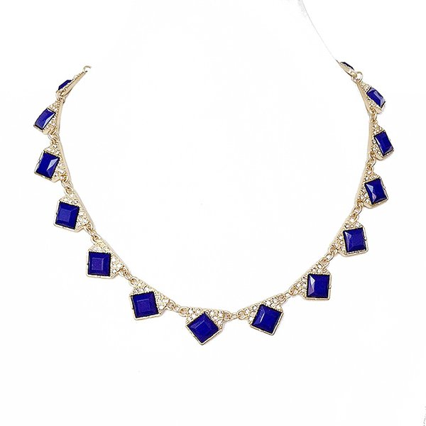 Free Shipping Wholesale Fashion Crystal Collar Necklace, Navy Simple Necklace, Wholesale Jewelry Fashion Party New Necklace
