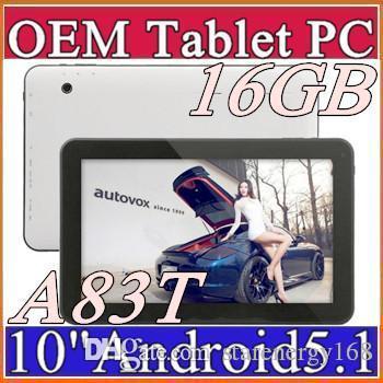 DHL 2016 16 GB Allwinner A83T 10 polegada Octa Core Cortex A7 @ 2 Ghz pirulito tablet pc Android 5.1 Bluetooth USB HDMI OTG D-10PB