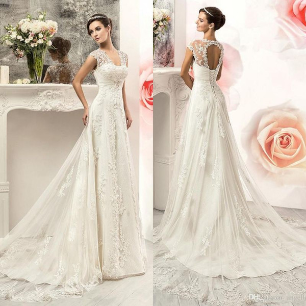 Discount Vintage 2017 Lace Sweetheart Wedding Dresses Gowns Cheap ...
