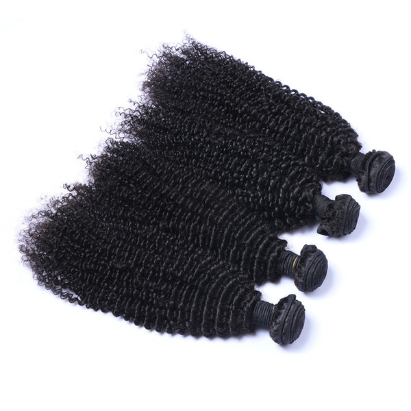 8A High Quality Peruvian Kinky Curly Unprocessed Human Hair Extensions 8-30inch Natural Black Color Soft Full Dyeable 5pcs/lot Human Hair