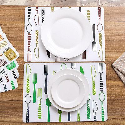 Großhandels- Nette Karikatur-Tischsets, die wasserdichten waschbaren Tabellen-Schutz heißen Art- und Weisebrief-Tabellen-Matten 1pcs malen