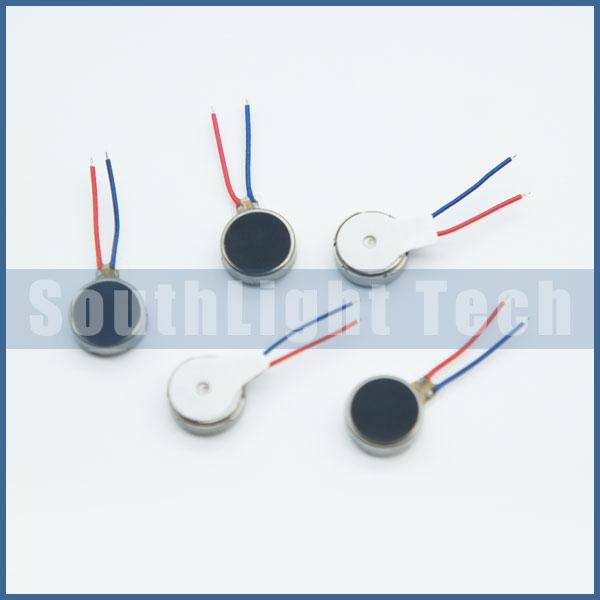 Wholesale 100% Original New 8mm X 2.7mm Cell phone Vibrator 3V Coin Micro Motor 0827 Mini Vibrating Toy Vibration With Leads Wire