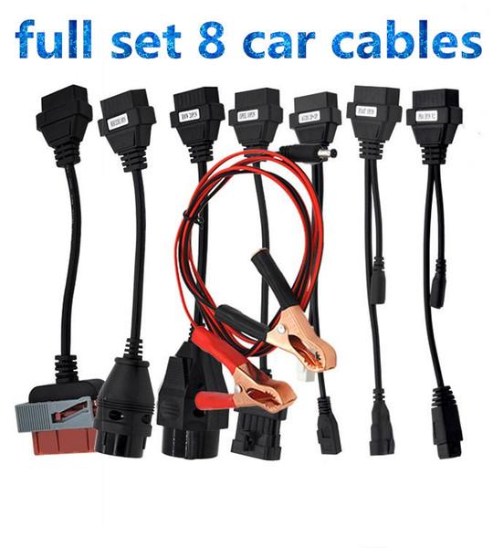CAVO di AUTOMOBILE di vendita caldo OBD OBD2 set completo cavo di interfaccia di strumento diagnostico cavi di 8 auto per TCS