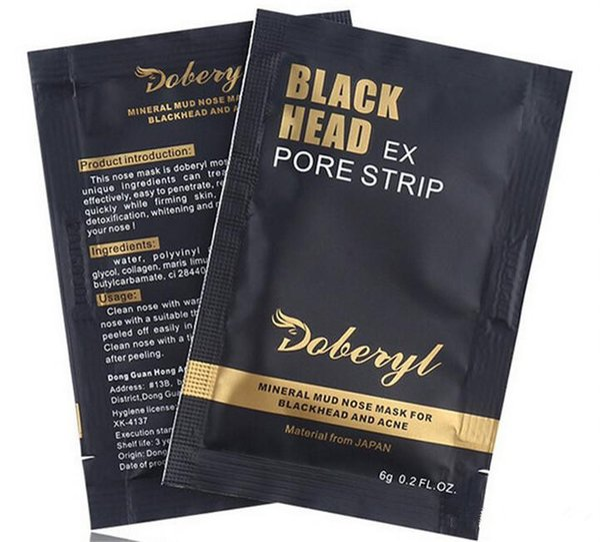 Doberyl Black Head EX Pore Strip Face Care Nose Facial Blackhead Remover Mask Minerals Pore Cleanser Free Shipping