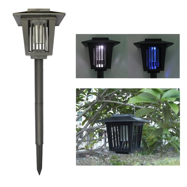 Eco-Friendly Solar Powered Outdoor Mosquito Repeller LED Insect Pest Bug Zapper Killer w Pin Graden Lawn Light