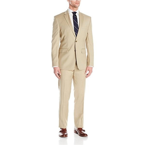 Custom Made Hot Sale Men's Slim Fit Two-Piece Wedding Suit 2 Piece Wedding Groom Formal Suits Men Suits (Jacket+Pants) L624