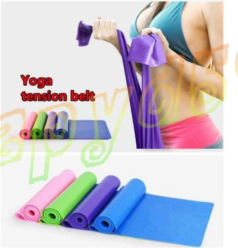 top popular 1.2M Yoga Pilates Stretch Resistance Band Exercise Fitness Training yoga tension belt Elastic Stretch Band 2019