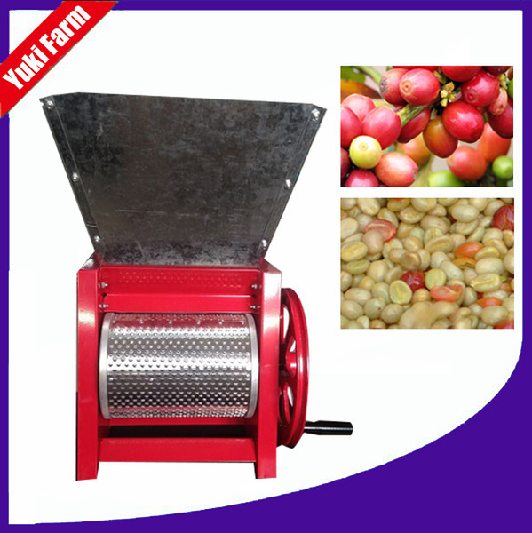 best selling Fresh coffee huller machine manual coffee pulper machine small coffee bean peeling machine small size high efficiency