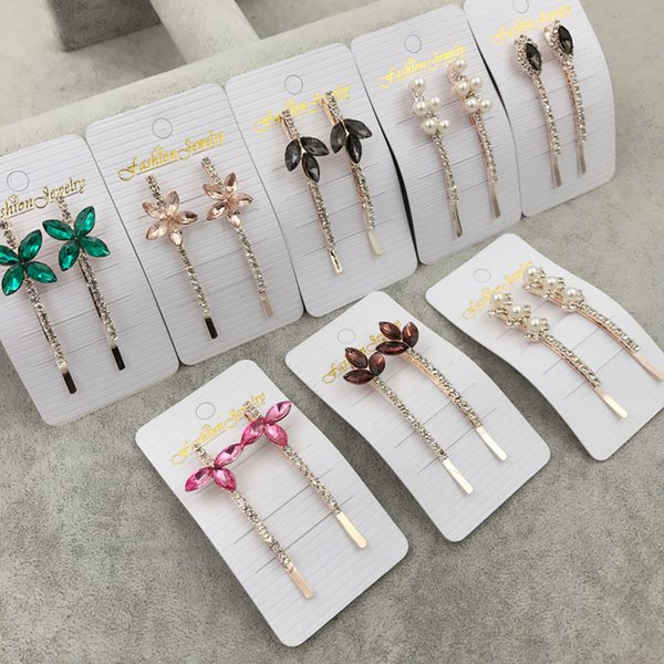 Fashion Crystal Hair Barrette Bows Flowers Hairpins Hair Clips Accessories For Women Girls Hairgrip Hair Clamp Hairclip