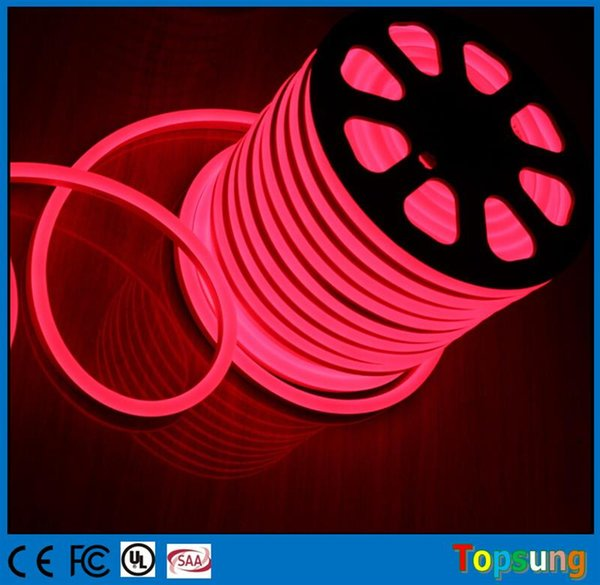 whole sale 25m spool pretty 14*26mm flexible led neon rope lights red yellow blue green white pink orange rgb 220V 110V 12V 24V