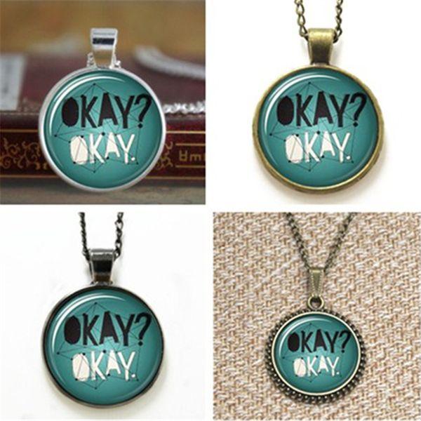 10pcs John reen Okay Okay Quote Book Art Pendant glass Necklace keyring bookmark cufflink earring bracelet