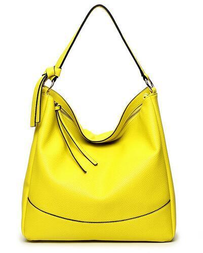2016 moda giallo hangbags per le donne di affari della signora della borsa a tracolla