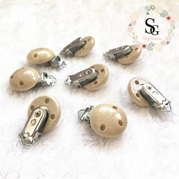 100 pcs per lot nature 3 holes wood baby pacifier clips,wood pacifier clips,safe certified pacifier clips,natural wood clips
