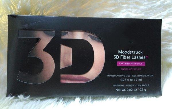 Marca de fábrica superior 2pcs / 1set rimel único del rimel de la fibra 3d Maquillaje del latigazo de las pestañas doble rimel maquiagem rizado
