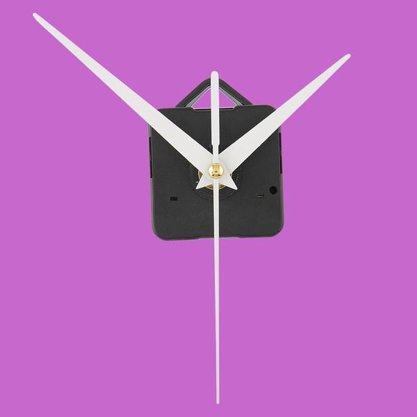 Yüksek Kaliteli Kuvars Faydalı Saat Hareketi Duvar Monte Mekanizması DIY Tamir Parçaları Beyaz Eller Saat Dakika Ikinci El