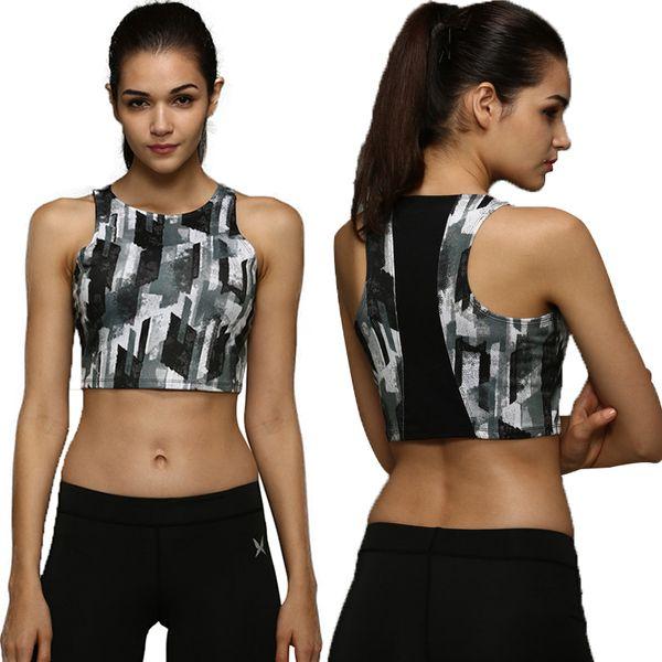 eb4fd06155a486 Wholesale-Women Yoga Shirts Blouse Quick-drying Vest Sports Fitness Dance  Aerobics Printing Small