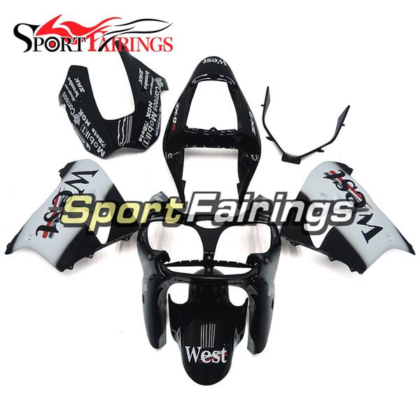 White Black Fairings For Kawasaki ZX9R 2002-2003 ABS Plastic Motorcycle Bodywork Body Kit Cowlings Body Kit Body Frames Covers