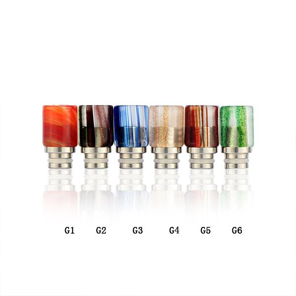 Wholesale-Sailing electronic cigarette 510 glass drip tips tempered glass assorted colors for 510 tank atomizer free shipping