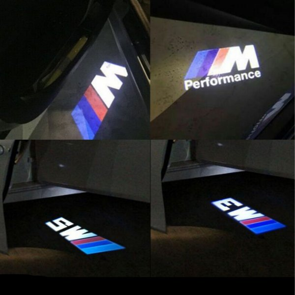 2pcs LED Car Door welcome Light For BMW M3 M5 M performance logo Car Door Welcome Light LED Ghost Shadow Light car-styling