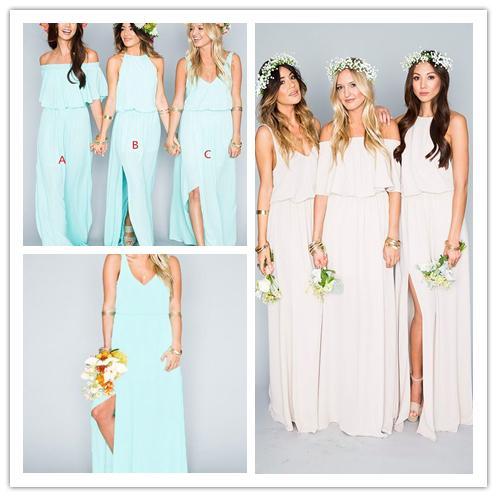 Summer boho dresses for evening wedding